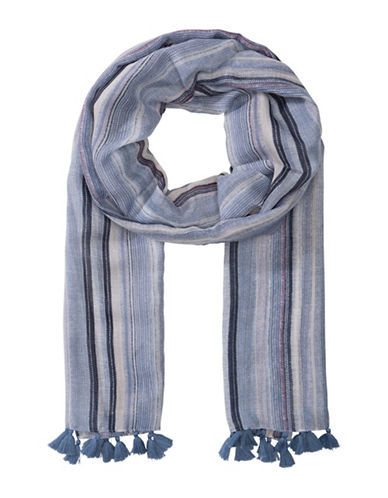 Olsen Multi Striped Scarf-BLUE-One Size