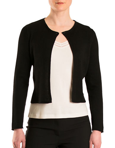 Olsen Havana Club Short Cardigan-BLACK-EUR 38/US 8