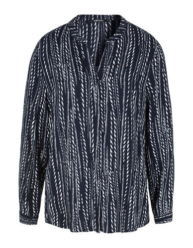 Olsen Rope Print Blouse-BLUE MULTI-EUR 40/US 10