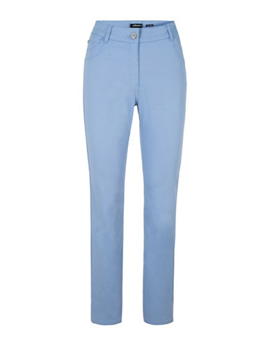 Olsen Mona Slim Pants-BLUE-EUR 46/US 16