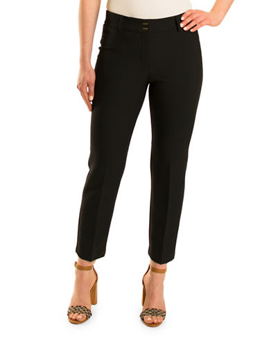 Olsen Havana Club Lisa Dress Pants-BLACK-EUR 34/US 4