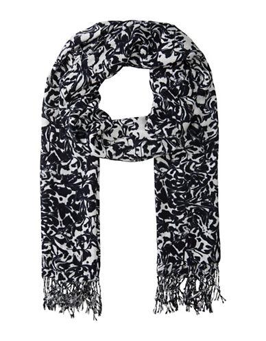 Olsen Abstract Print Shawl-MARINA-One Size