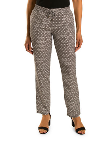 Olsen Havana Club Lisa Printed Pants-MULTI-EUR 44/US 14