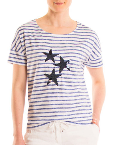 Olsen Stars and Stripes Tee-BLUE MULTI-EUR 40/US 10