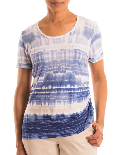Olsen Dip Dye Side Tie Top-BLUE MULTI-EUR 46/US 16