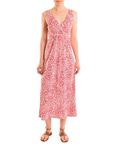 Olsen Long Midi Dress-RED MULTI-EUR 40/US 10