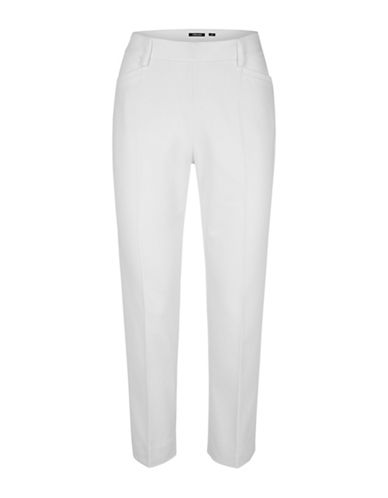 Olsen Paradise Garden Side Zip Pants-WHITE-EUR 36/US 6