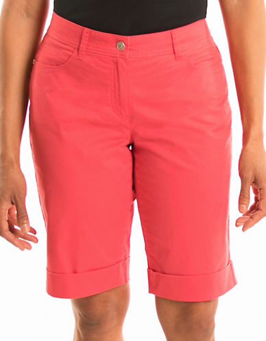Olsen Dream Beach Lisa Roll-Up Shorts-RED-EUR 42/US 12