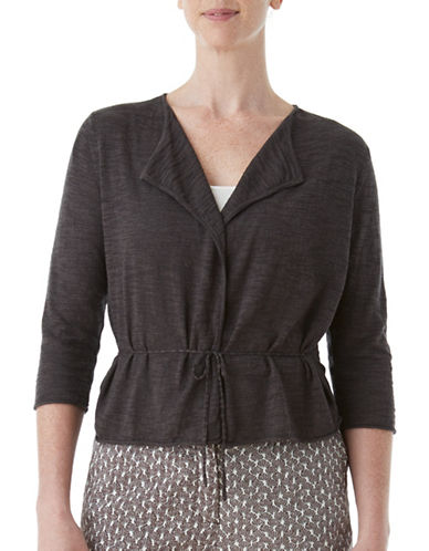 Olsen Soft Delight Short Dress Cardigan-BROWN-EUR 36/US 6