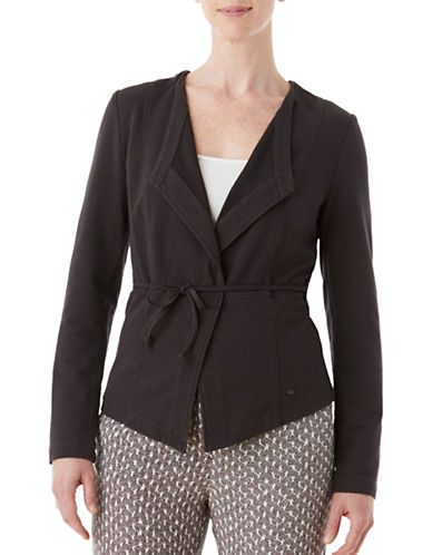 Olsen Soft Delight French Terry Jacket-BROWN-EUR 38/US 8