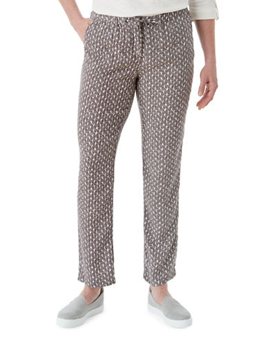 Olsen Soft Delight Lisa Pants-BROWN MULTI-EUR 40/US 10