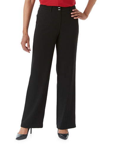 Olsen Wide Leg Anna Pants-BLACK-EUR 40/US 10