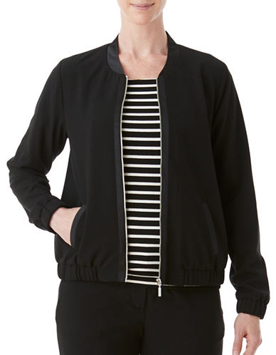 Olsen Bomber Jacket-BLACK-EUR 36/US 6