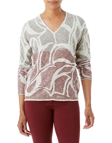 Olsen Jacquard Top-RED-EUR 36/US 6