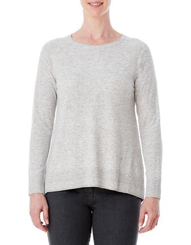 Olsen Hi-Lo Sweater-SILVER-EUR 40/US 10