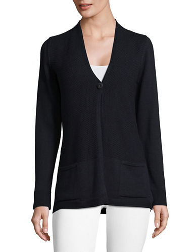 Olsen Classic One Button Cardigan-BLUE-EUR 34/US 4