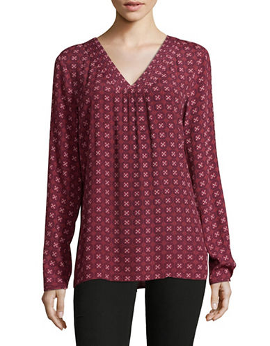 Olsen Foulard Printed Blouse-RED-EUR 36/US 6