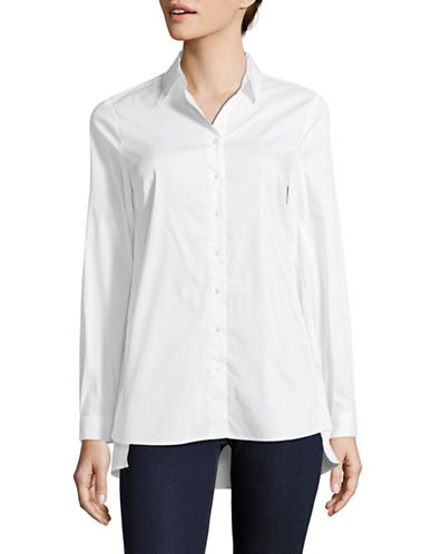 Olsen Long Sleeve Button-Down Shirt-WHITE-EUR 36/US 6