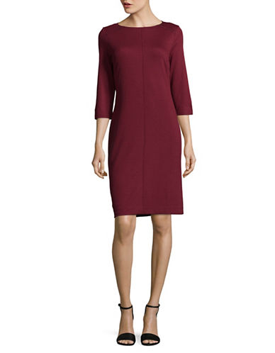 Olsen Textured Ponte Dress-RED-EUR 34/US 4