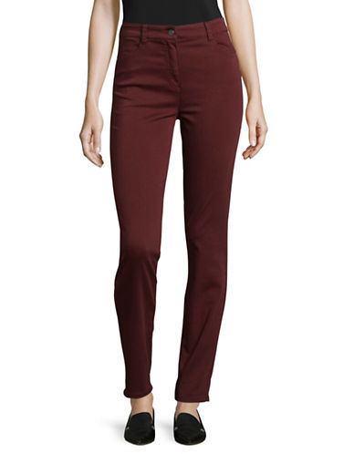 Olsen Mona High-Rise Slim Jeans-RED-EUR 34/US 4