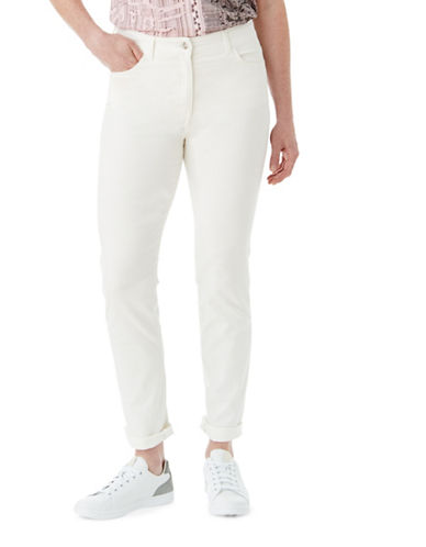 Olsen Soft Delight Mona Slim-Fit Jeans-WHITE-EUR 44/US 14