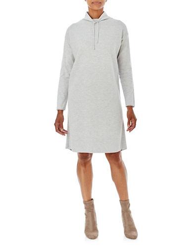 Olsen Knit Long Sleeve Dress-BLUE-EUR 36/US 6