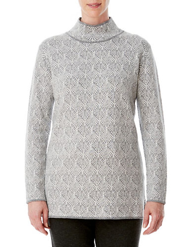 Olsen Fan Jacquard Tunic-GREY-EUR 36/US 6