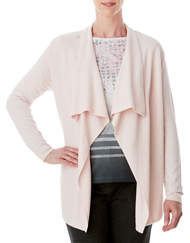 Olsen Draped Cardigan-PINK-EUR 44/US 14