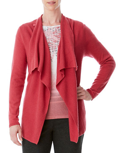 Olsen Draped Cardigan-RED-EUR 46/US 16