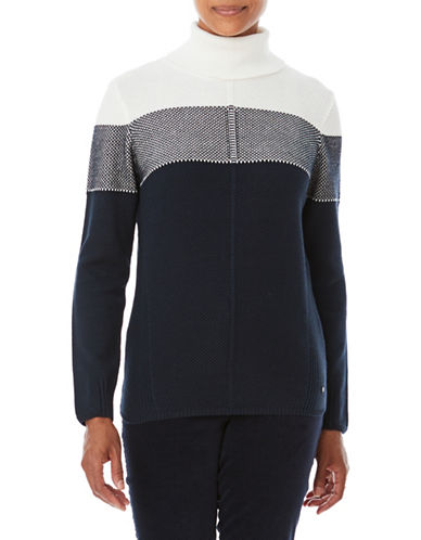 Olsen Turtleneck Sweater-BLUE-EUR 44/US 14