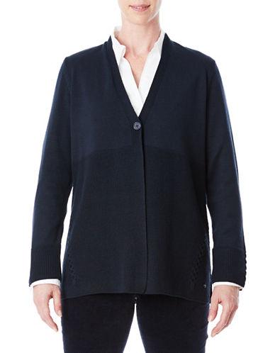 Olsen One-Button Cardigan-BLUE-EUR 38/US 8