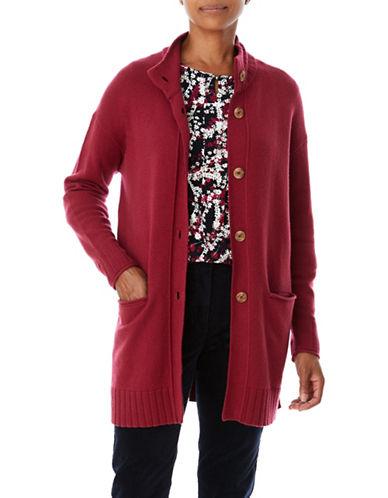 Olsen Buttoned Cardigan-RED-EUR 34/US 4