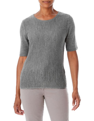 Olsen Short Sleeve Pullover-GREY-EUR 36/US 6