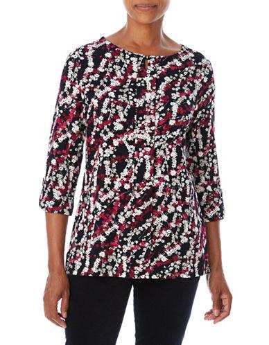 Olsen Floral Top-RED-EUR 38/US 8