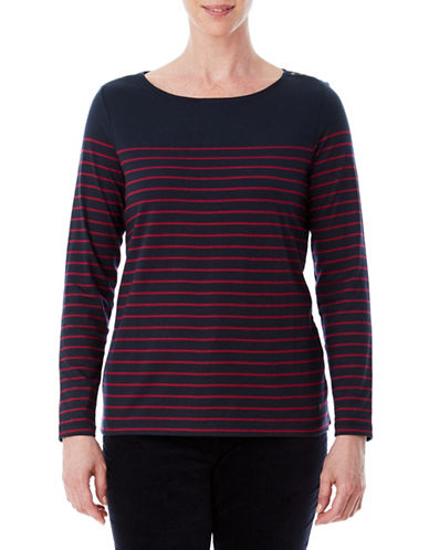 Olsen Stripe Long-Sleeve Tee-BLUE-EUR 36/US 6
