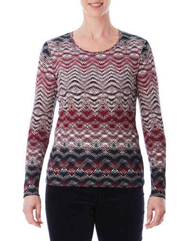 Olsen Cotton Long-Sleeve Tee-RED-EUR 38/US 8