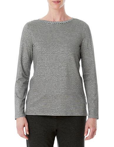 Olsen Stripe Long Sleeve Tee-SILVER-EUR 44/US 14