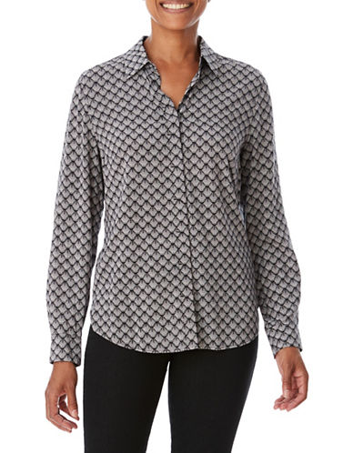 Olsen Fan Button-Down Shirt-BLACK-EUR 44/US 14