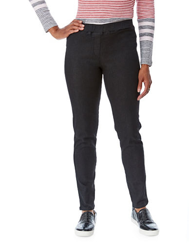 Olsen Pia Pull-On Denim Pants-BLACK-EUR 38/US 8