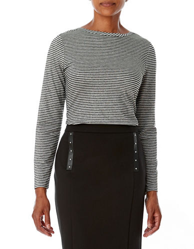 Olsen Ponte Pencil Skirt-BLACK-EUR 34/US 4