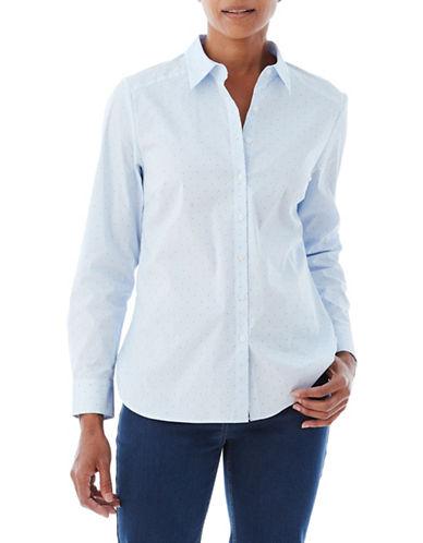 Olsen Dobbie Sport Shirt-BLUE-EUR 40/US 10