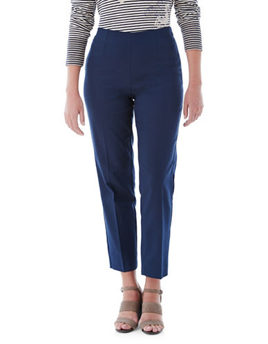 Olsen Mona Straight-Fit Pants-NAVY-EUR 42/US 12