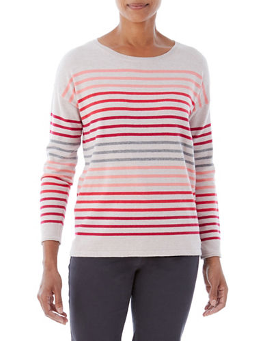 Olsen Multi-Stripe Sweater-PINK-EUR 34/US 4