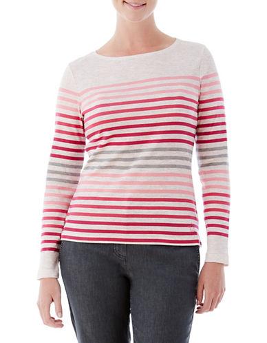 Olsen Multi-Stripe Tee-PINK-EUR 46/US 16