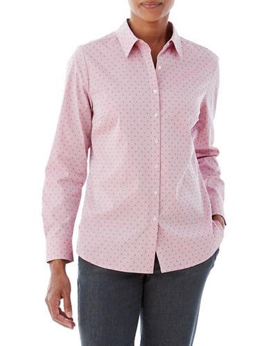 Olsen Dobbie Dot Print Shirt-PINK-EUR 46/US 16