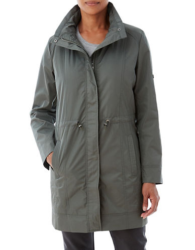 Olsen Classic Anarak Jacket-GREEN-EUR 46/US 16