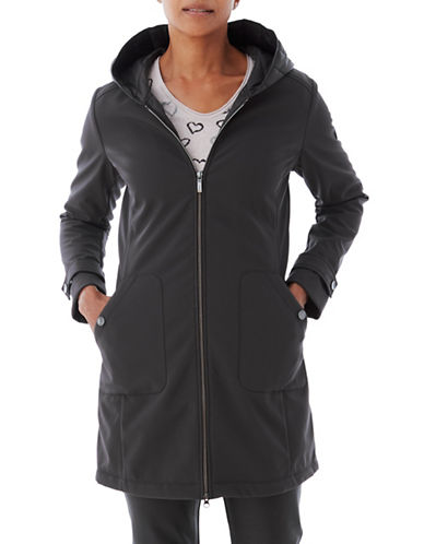 Olsen Hooded Car Coat-GREY-EUR 34/US 4