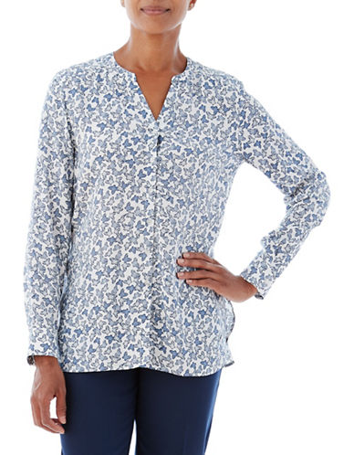 Olsen Butterfly Blouse-BLUE-EUR 38/US 8
