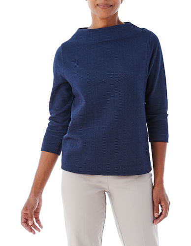 Olsen Moden Block Shape Top-NAVY-EUR 40/US 10