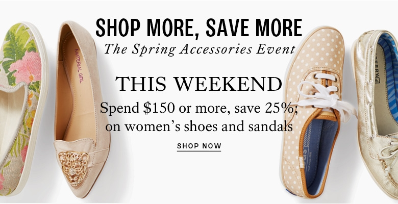 Shop more save more on shoes